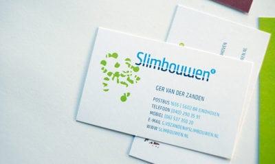 huisstijlen Slimbouwen visitekaartje